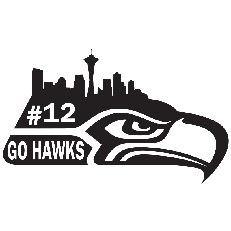 Seahawks Black And White Clipart - Clipart Kid