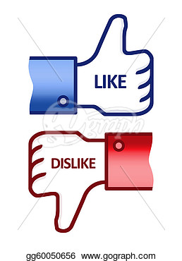 Clip Art   Like Dislike Thumb Up Sign  Stock Illustration Gg60050656