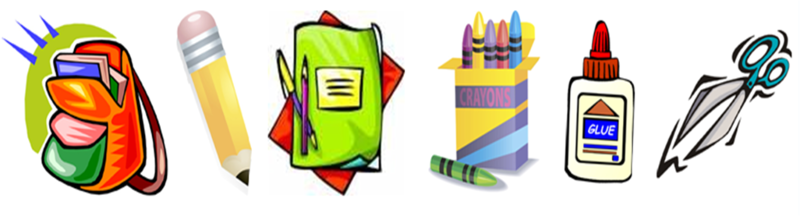 School Supplies Clipart - Clipart Kid