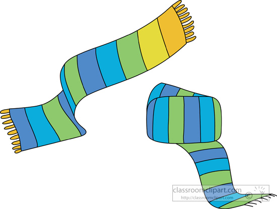 Clothing   Winter Cloths Knit Scarf 05   Classroom Clipart