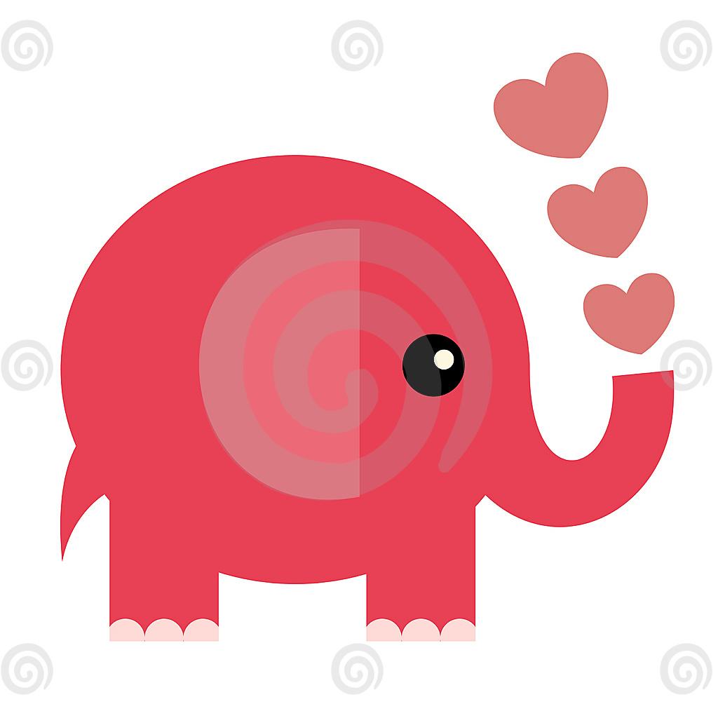 Cute pink elephant cartoon - photo#21