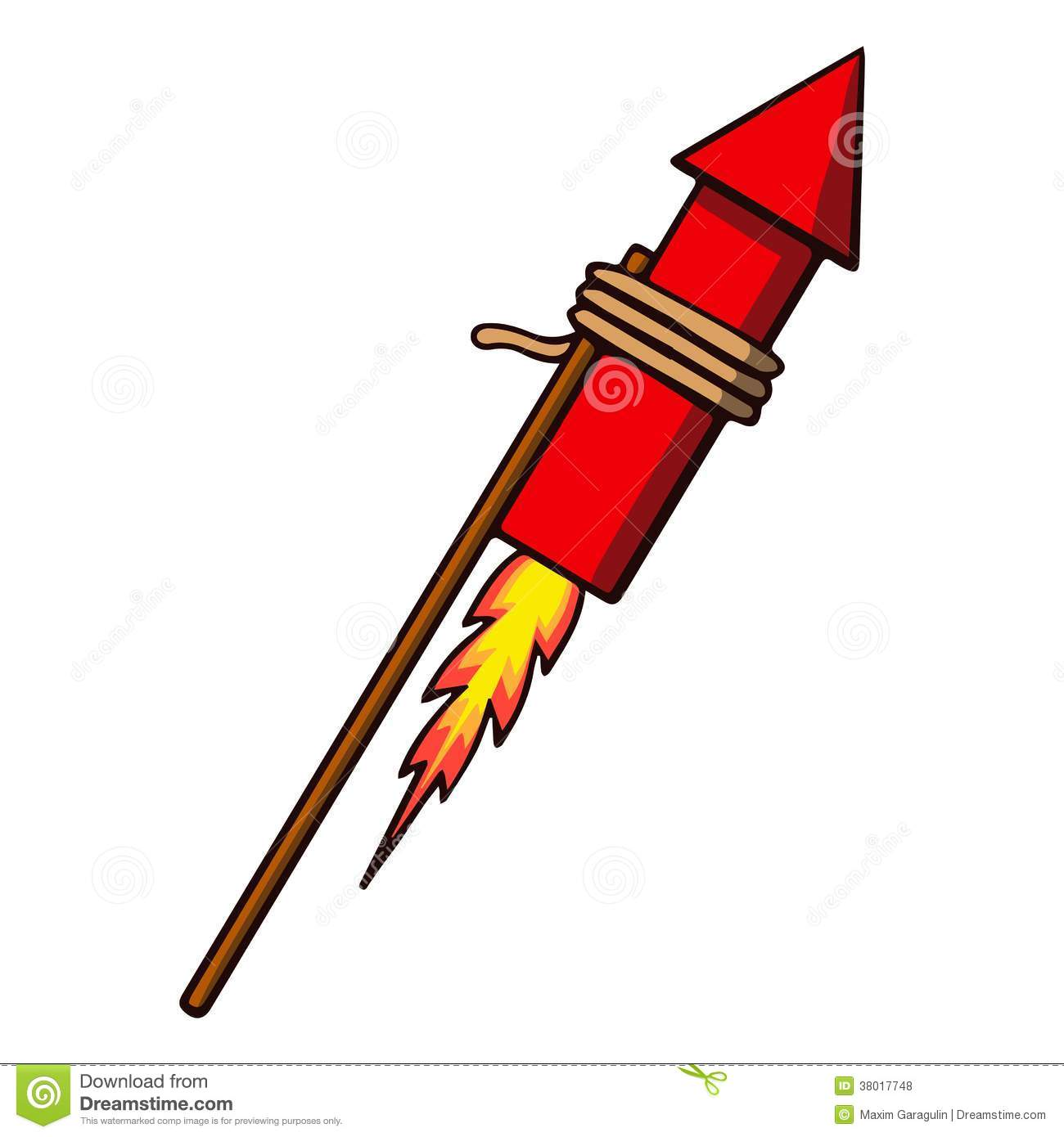 Firework Rocket  Vector Illustration Royalty Free Stock Photos   Image