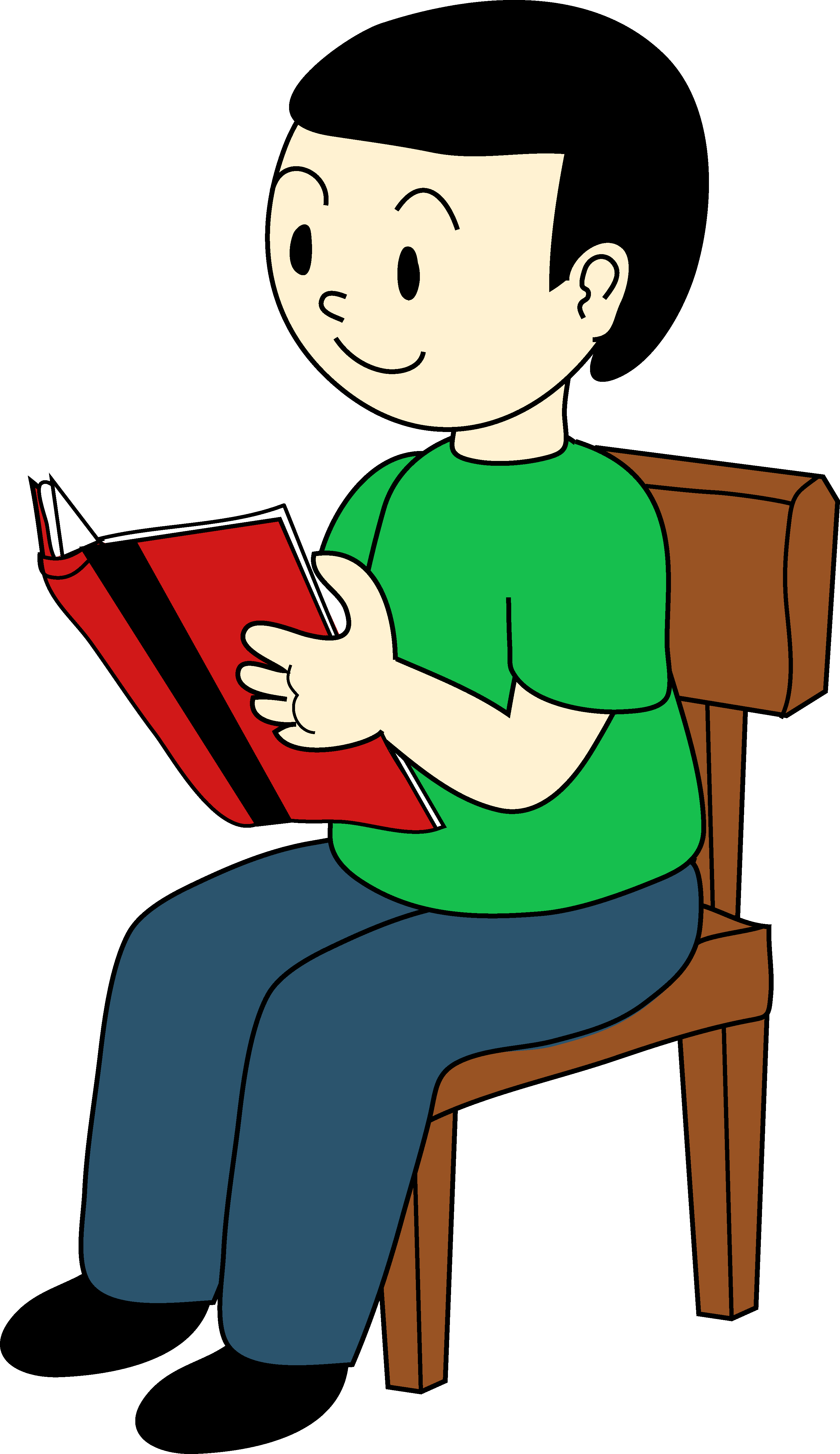 Animated Of A Chair In Person Clipart - Clipart Kid