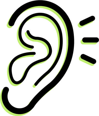 Clip Art Clipart Ear listening ears clipart kid girl panda free images