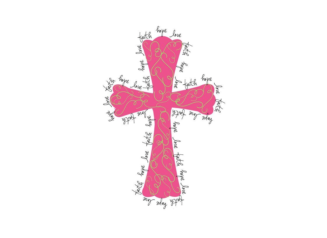 Pink Crosses Background Thank You So Much For Stopping