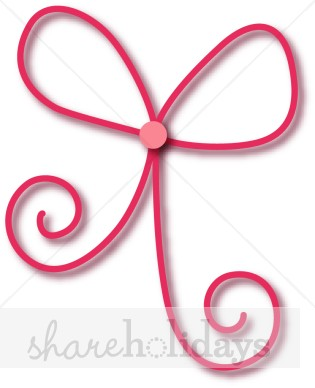 Pink Ribbon Bow Clipart
