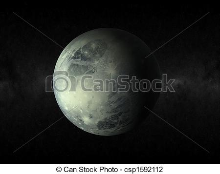Planet   3d Rendering Of The Planet Pluto Csp1592112   Search Clipart