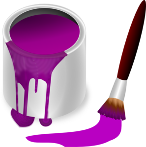 Purple Paint With Paint Brush Clip Art At Clker Com   Vector Clip Art