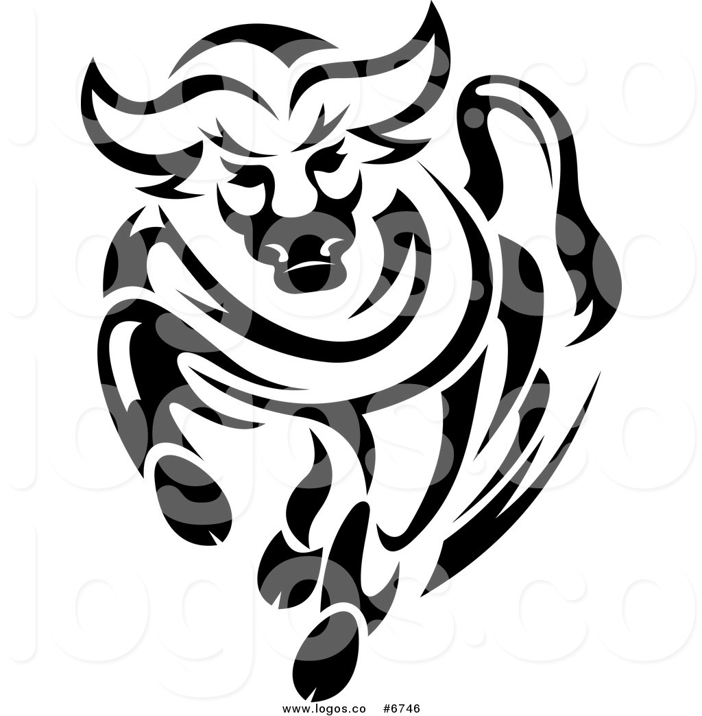 Bull Black And White Clipart - Clipart Suggest