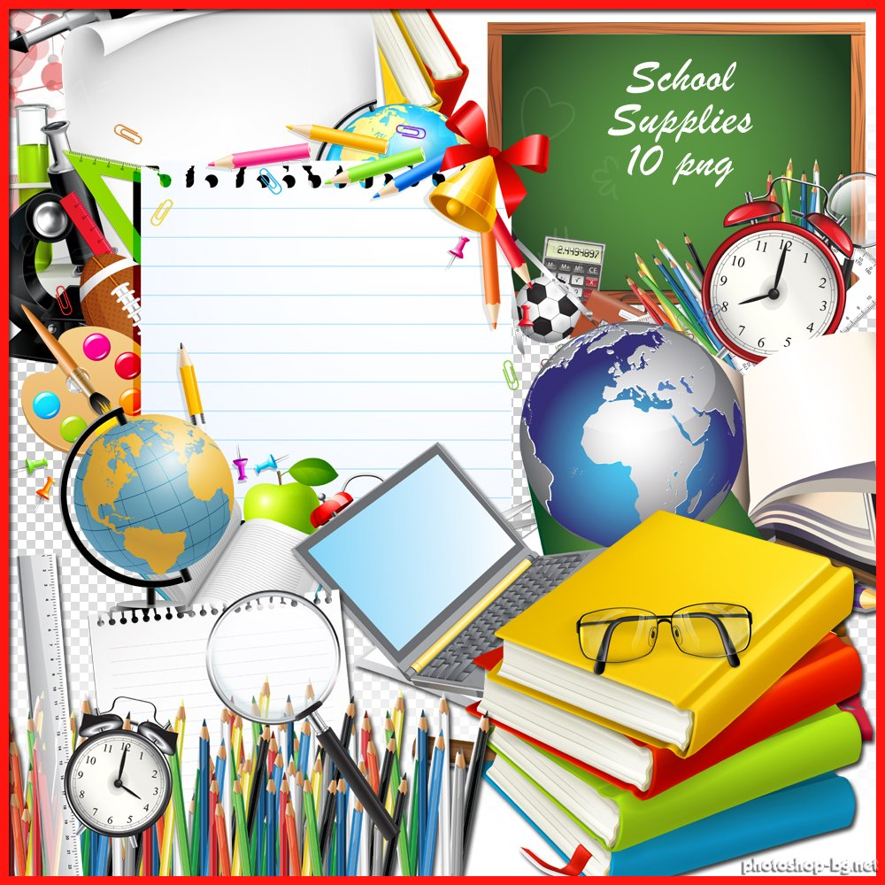 School Supplies Border Clipart   Clipart Panda   Free Clipart Images