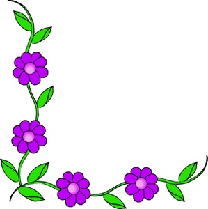 Vine Clipart Image   Purple Flowers On A Vine Making Up A Page Border