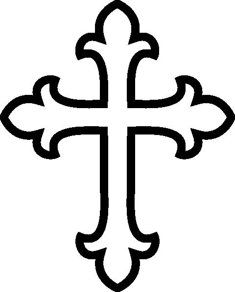 White Cross Clip Art At Clker Com Vector Clip Art Online Royalty