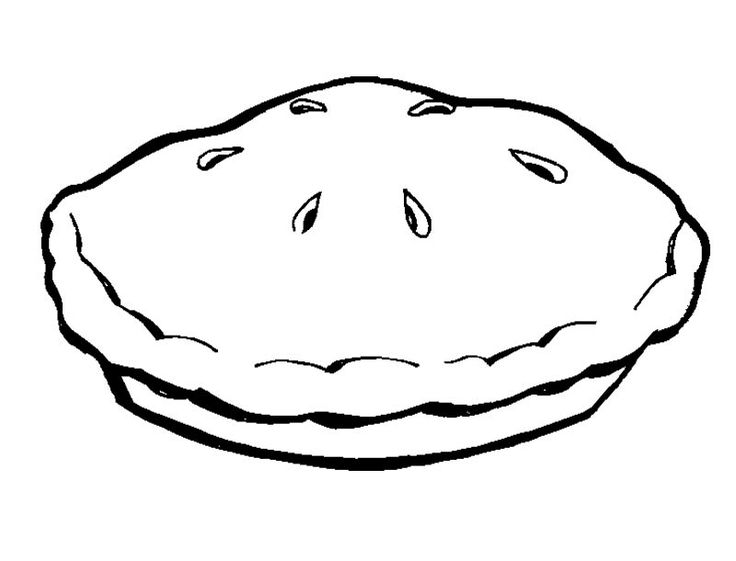 Apple Pie Clipart Black And White A Pie Pan Coloring Page Clip