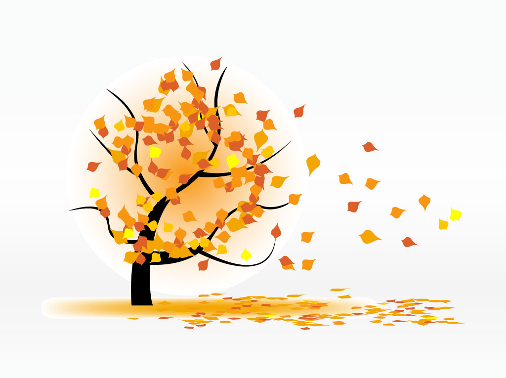 Windy Fall Clipart - C...