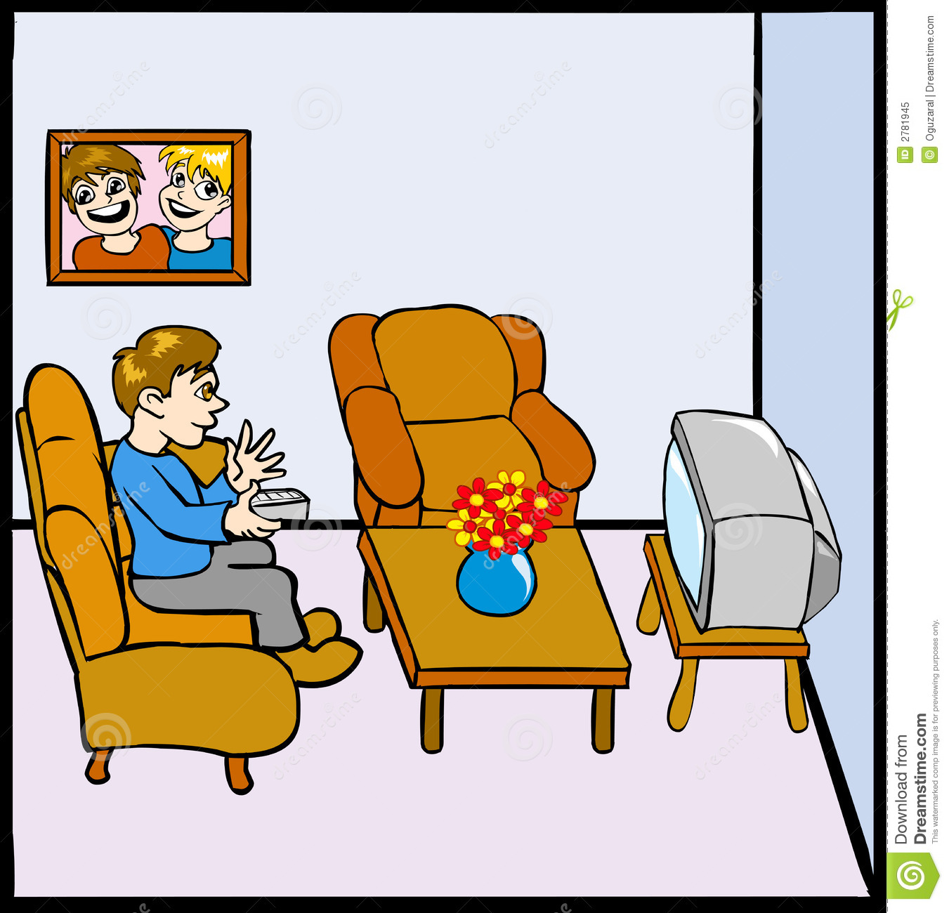 Boy Watching Tv Clipart Uomo Che Guarda Tv