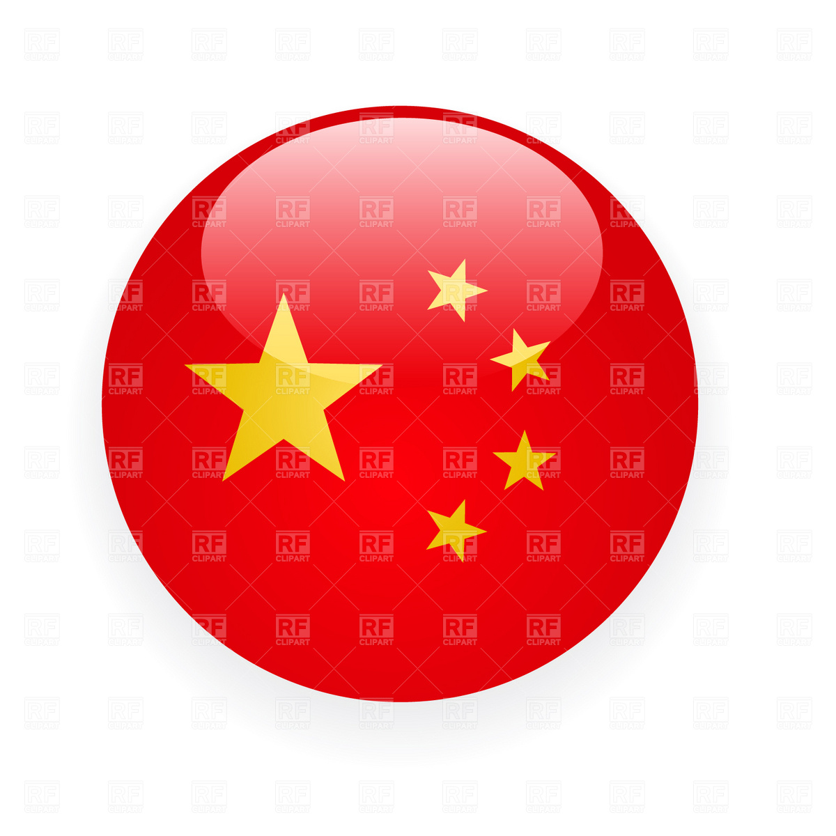 China Button Flag Icon Download Royalty Free Vector Clipart  Eps