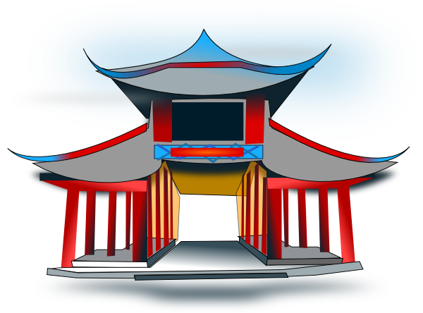 Chinese Architecture Clip Art At Clker Com   Vector Clip Art Online