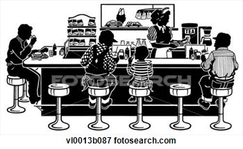 Clip Art   Diner Counter  Fotosearch   Search Clipart Illustration