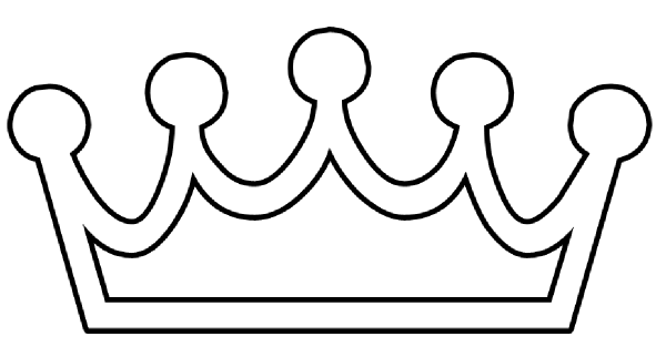 Crown Outline Clip Art At Clker Com   Vector Clip Art Online Royalty
