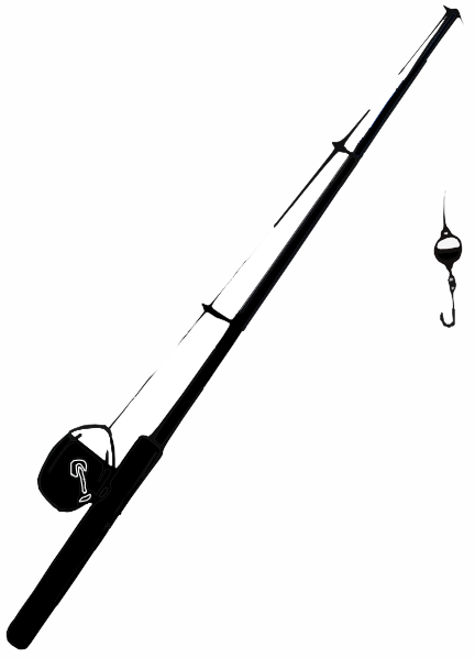 Fishing Pole Black And White Clipart - Clipart Suggest