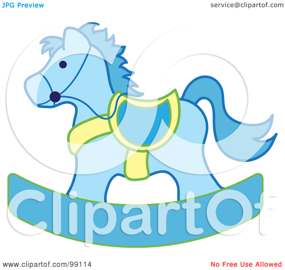 Free  Rf  Clipart Illustration Of A Blue And Yellow Children S Nursery