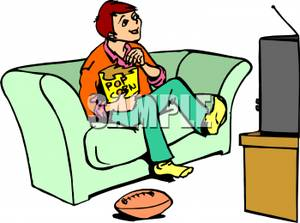 Girl Watching Tv Clipart A Boy Sitting On The Couch Watching