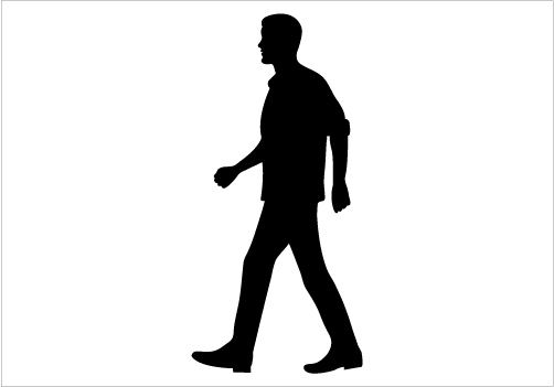 Man Walking Silhouette Graphics Standing Man Silhouette Graphics