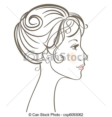 Of Beauty Women Face Vector Illustration Csp6093062   Search Clipart