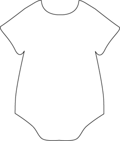 Onesie Black White   Free Images At Clker Com   Vector Clip Art Online
