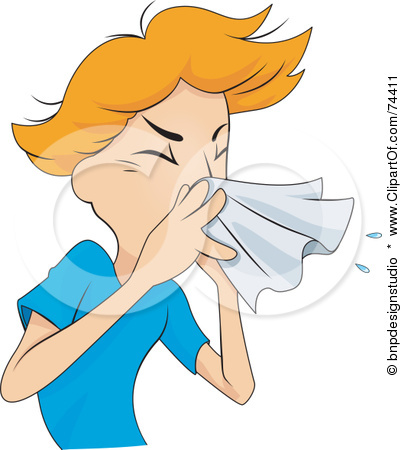 Person Coughing Clipart