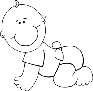 Baby Crawling Clipart - Clipart Kid
