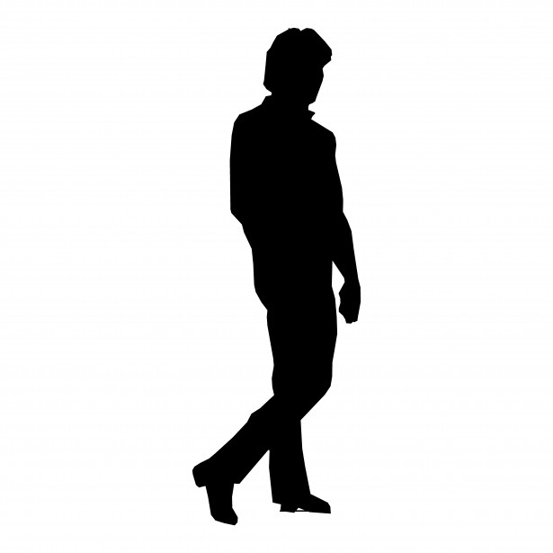 Silhouette Man Walking Free Stock Photo   Public Domain Pictures