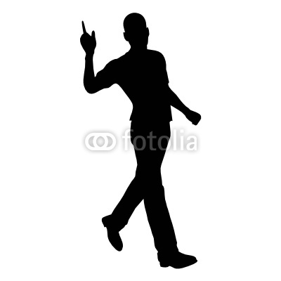 Walking Man Silhouette  Stock Image And Royalty Free Vector Files