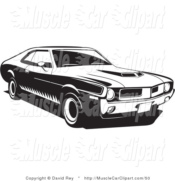 1970 Javelin Muscle Car Muscle Car Clip Art David Rey