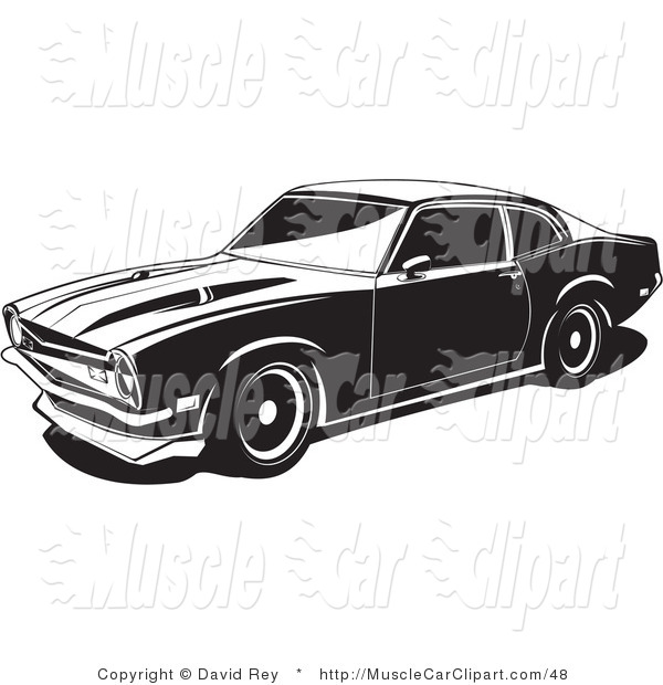1972 Maverick Muscle Car Muscle Car Clip Art David Rey