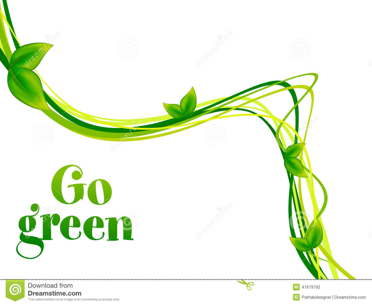 Abstract Go Green Background Stock Vector   Image  41679792