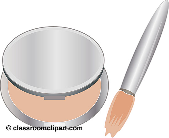 Beauty Cosmetics   Makeup Compact Brush 11   Classroom Clipart