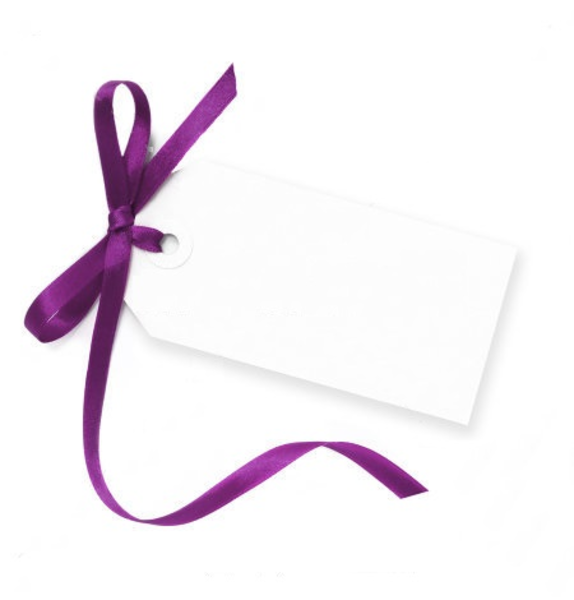 Bow Of Purple Satin Ribbon Isolated On White With Soft Shadow Image