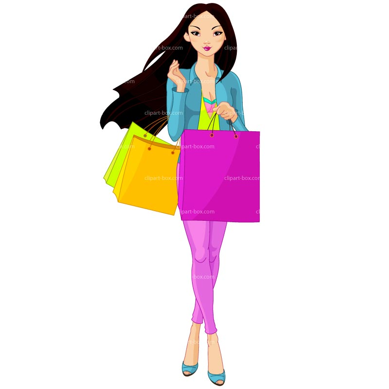 Lady Shopping Clipart - Clipart Suggest