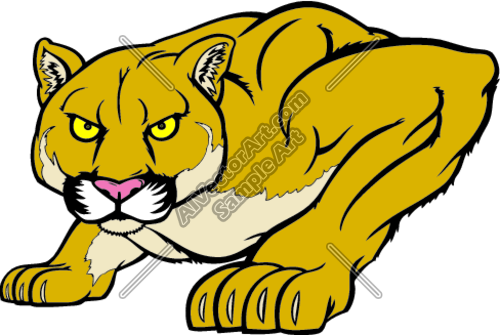 Clipart Vector Art Of  Cougar06v4clr