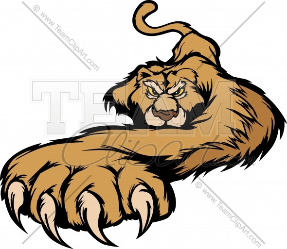 Cougar Eyes Mascot Graphic Stock Vector Clipart Graphic Team Mascot