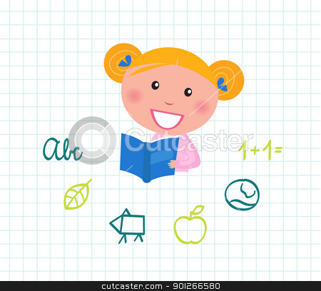 Cute Reading Clipart