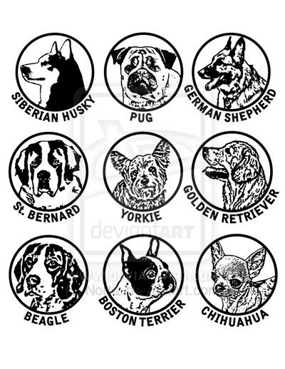 Dog Breed Clip Art Collection 1 By Nortiz On Deviantart