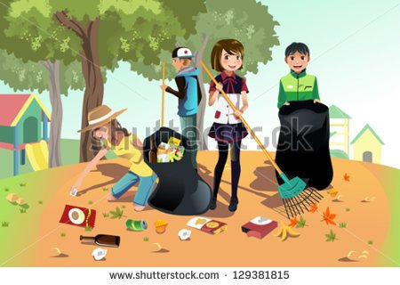 Fall Yard Clean Up Clipart By Cleaning Up The Park