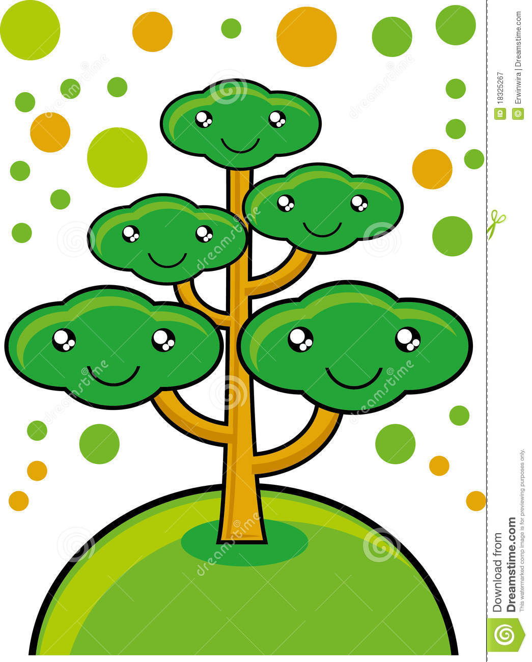 Go Green Tree Royalty Free Stock Photography   Image  18325267