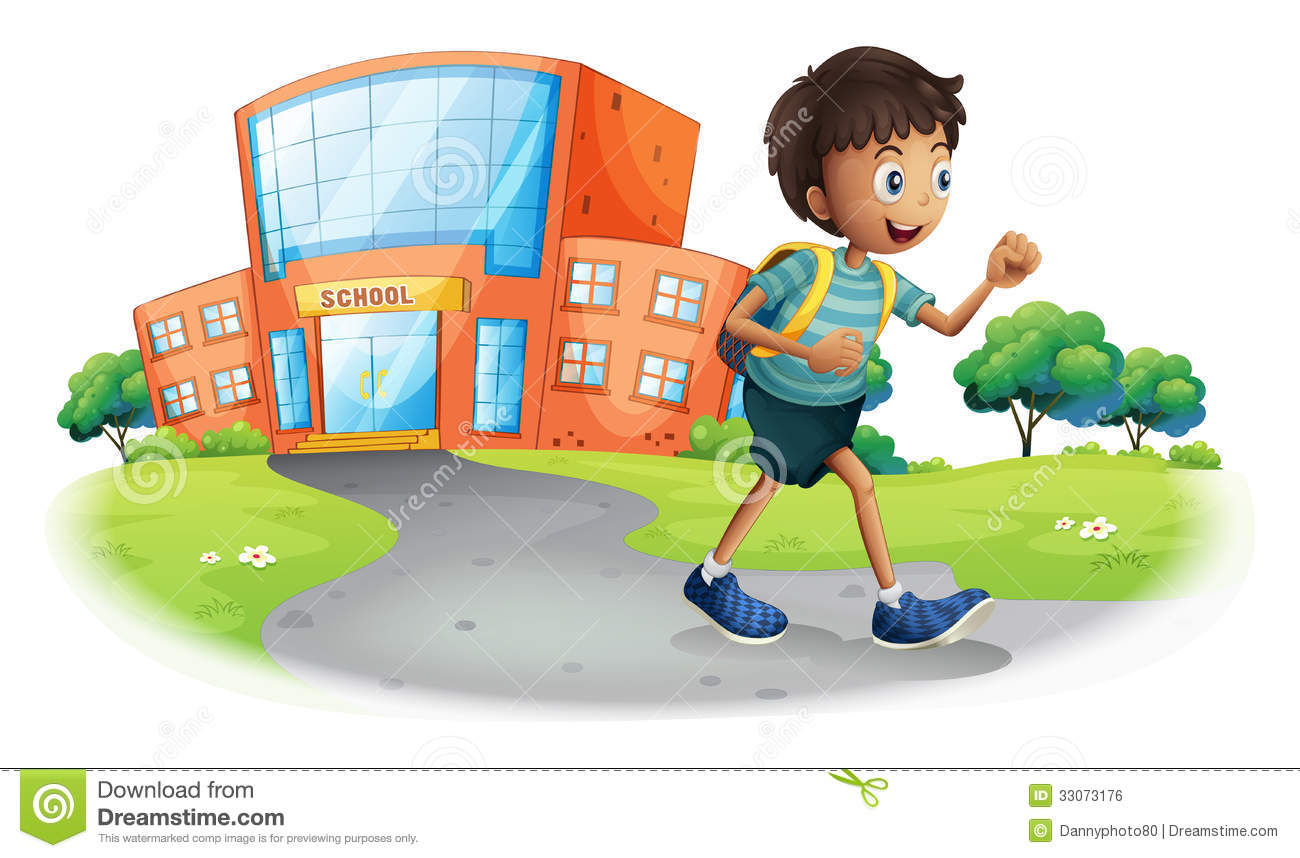 Going Home Clipart A Boy Going Home From School