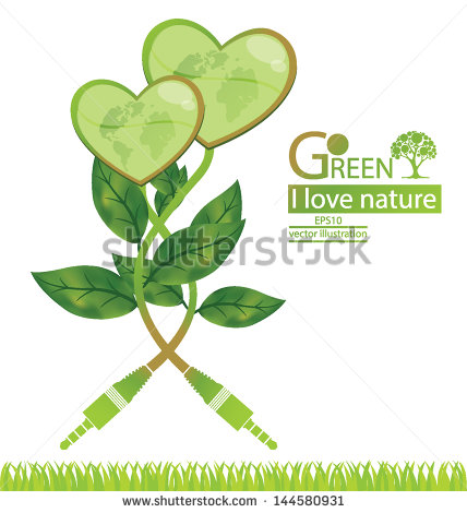 Jack Plug  Tree Design  Go Green  Save World  Vector Illustration