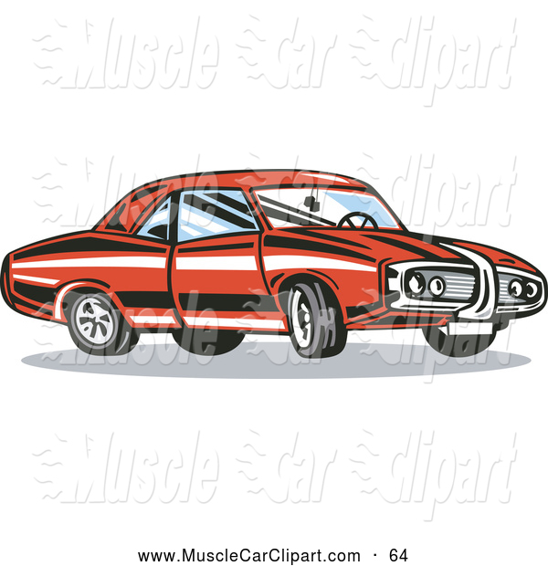 Of A Red Muscle Car Muscle Car Clip Art Patrimonio