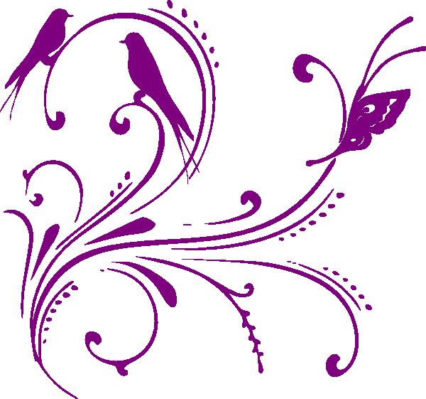 Purple Swirl Clip Art