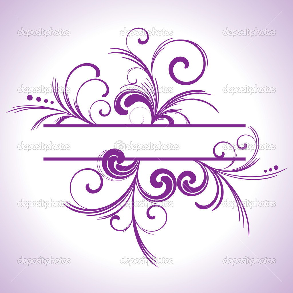 Purple Swirl Frame   Stock Vector   Victor Tongdee  6929026